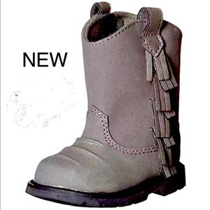 Baby Deer Boots Western Style Gray NWB